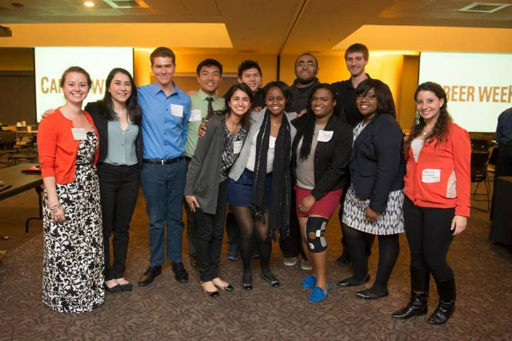 The Student Alumni Association (SAA) hosed a great networking event! (photo via SAA)