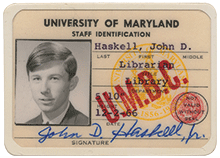 John Haskell was the very first employee at UMBC, hired by Albin O. Kuhn to build the university's library.