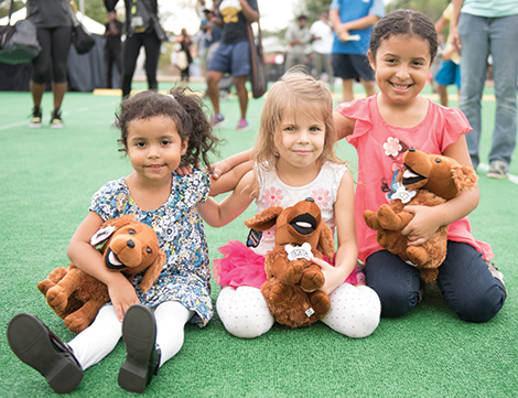 Kids find the plush life with Retriever memorabilia at the House of Grit.