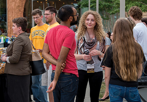 Alumni from the Honors College gather to celebrate one of the key programs in UMBC's academic excellence.