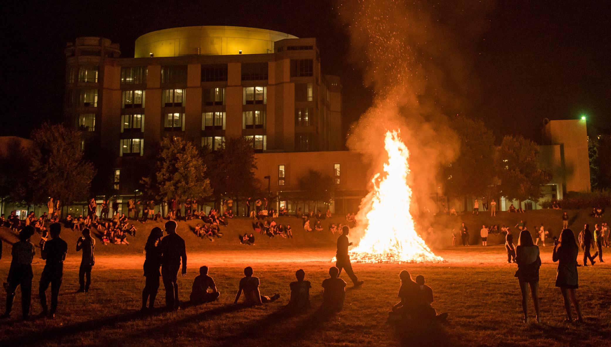 UMBC community bonfire