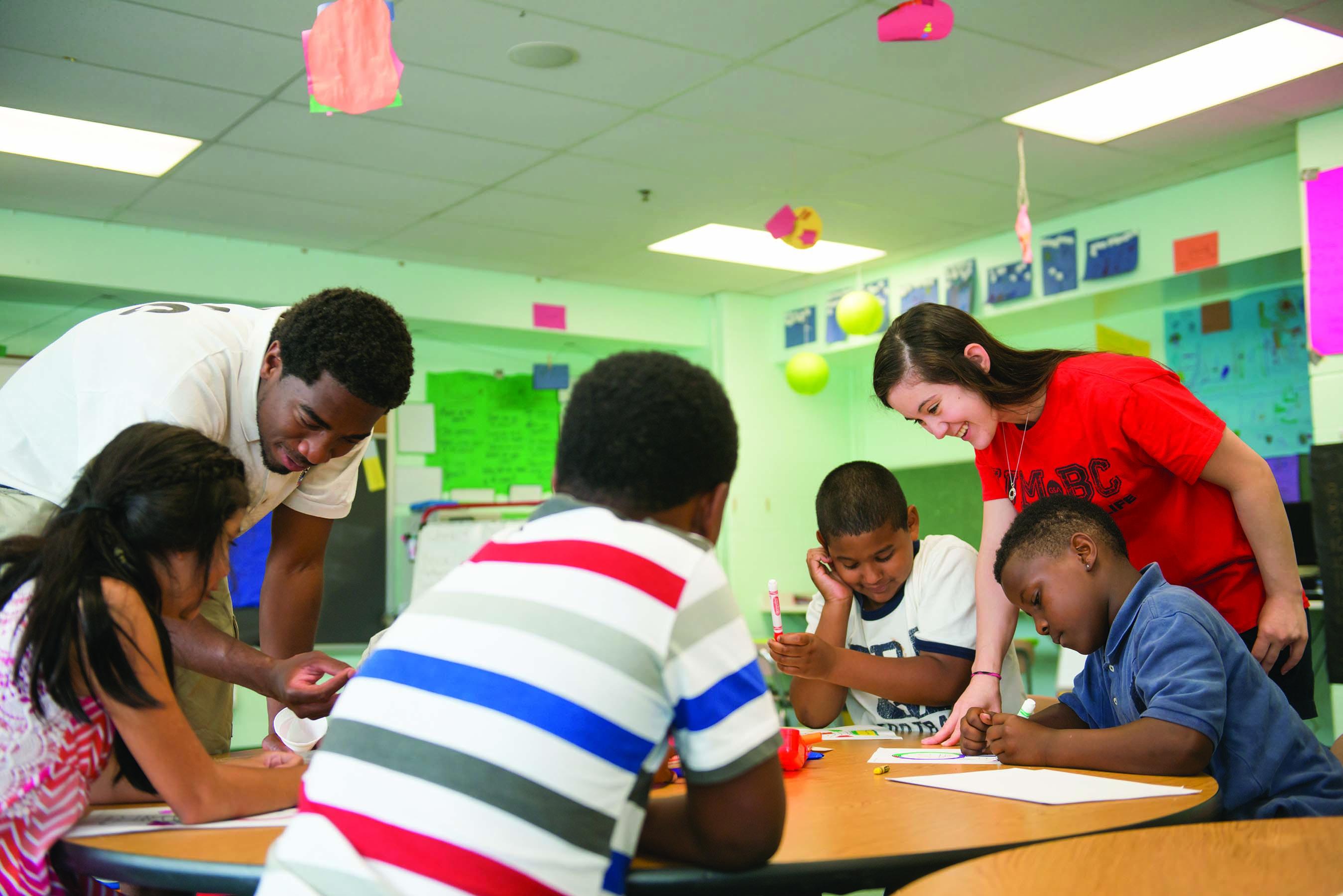 Sherman Scholars teach at Lakeland Elementary School.