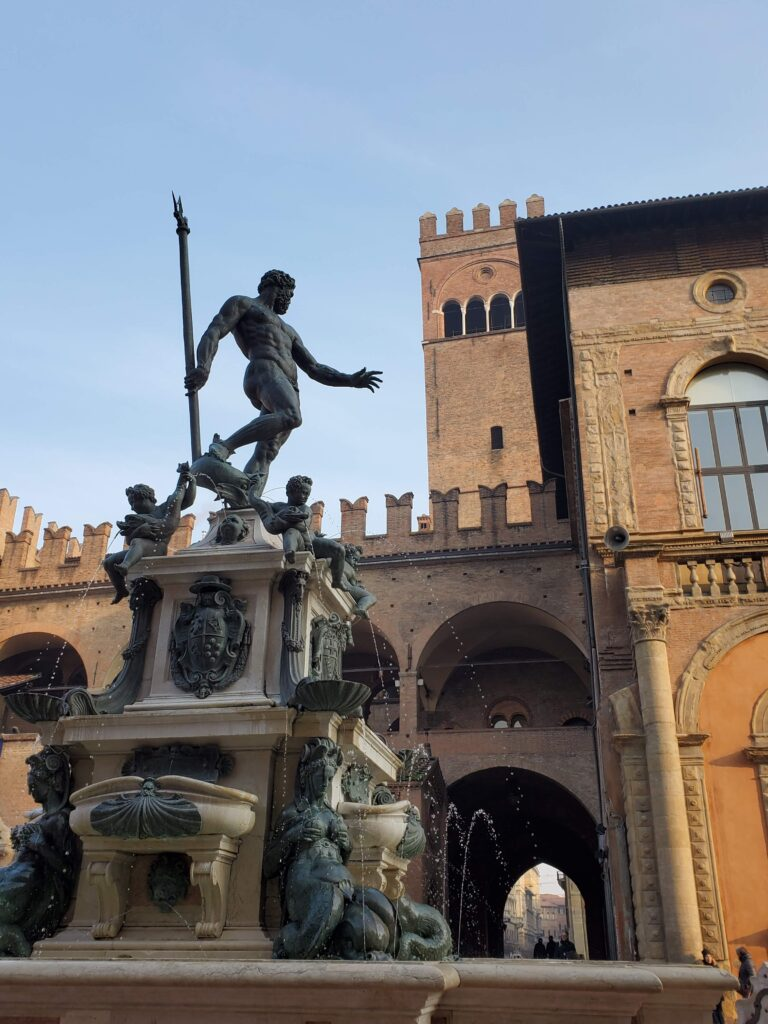 The Fountain of Neptune in Bologna