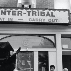 The front of the Inter-Tribal Restaurant