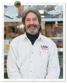 """Robert Somers, director of the UMBC Bookstore, is known on campus as """"Bookstore Bob."""""""